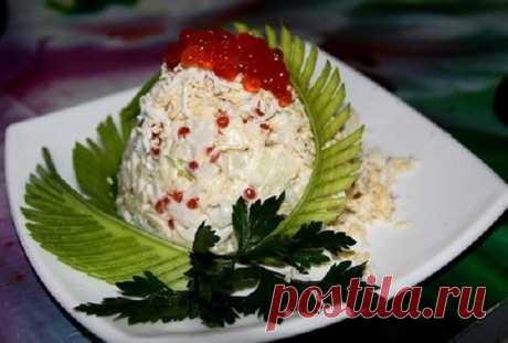 Изумительный салат «Император» с морепродуктами и яблоком — достоин любого праздника