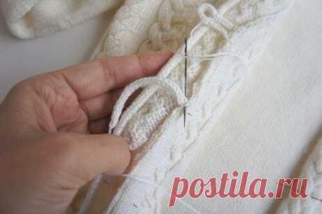 Застежка на вязаной кофточке просто и легко (Уроки и МК по ВЯЗАНИЮ) – Журнал Вдохновение Рукодельницы