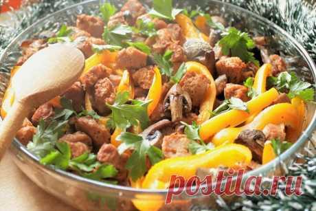 Соевое мясо в духовке рецепт с фото - 1000.menu