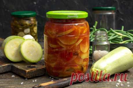 Кабачковый салат на зиму с сельдереем и помидорами. Пошаговый рецепт с фото — Ботаничка.ru