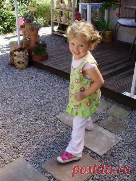 Фартучек для маленькой девочки — Сделай сам, идеи для творчества - DIY Ideas