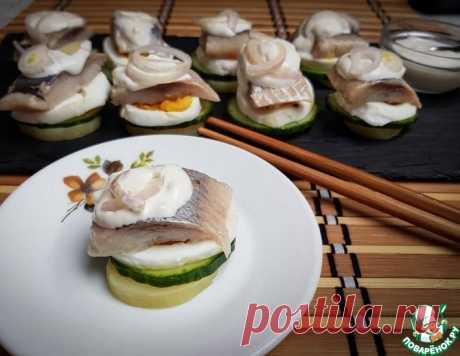 """Закуска из сельди """"Балтийские суши"""" – кулинарный рецепт"""