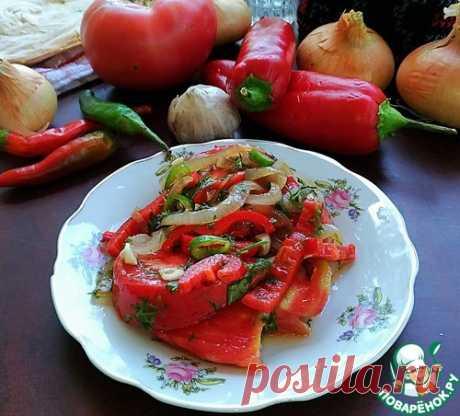 """Маринованные помидоры дольками """"Острые"""" - кулинарный рецепт"""