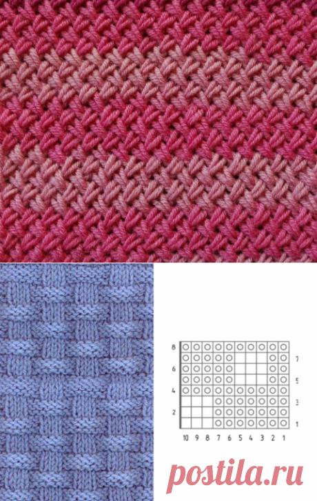 5 вариантов узора спицами Плетёнка