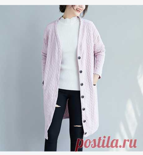 Black Plus Size Autumn Outerwear Big Size Leisure Female Loose Long Sl - idetsnkf