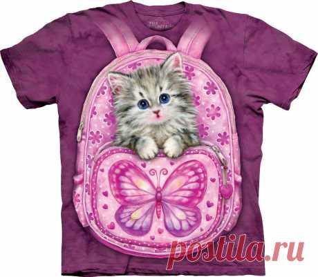 Арт № 103432 Футболка  3D The Mountain Classic - Backpack Kitty Бесшовная футболка -варенка 100% хлопок Размеры Детские S, M, L,XL  +  Взрослые  S, M, L,XL, XXL, XXXL Рисунок нанесен красками на водной основе. Не выгорает, не тянется
