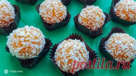 Кокосовые конфеты из кураги