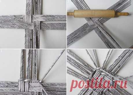 Поделки из газетных трубочек: пошаговая инструкция процесса плетения