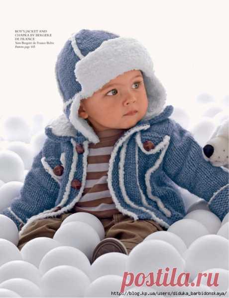 Жакет для мальчика и шапка-ушанка (Knitting 100th issue collector's edition).