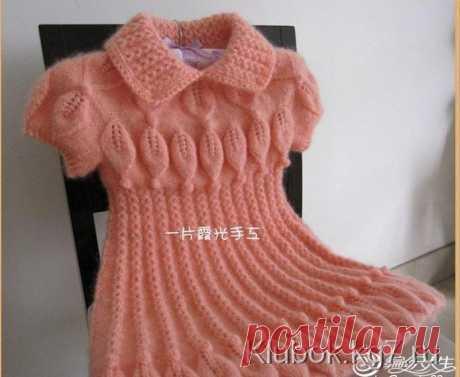 Тёплое мохеровое платье для девочки | Клубок