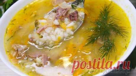 """Рассольник """"Любимый"""" Рассольник без перловки. (Рассольник с рисом). Получается очень вкусный, наваристый супчик. На второй день супчик тоже как свежий, не разбухает и картофель остается вкусным.ИНГРЕДИЕНТЫ Вода – 2,5л.Гов..."""