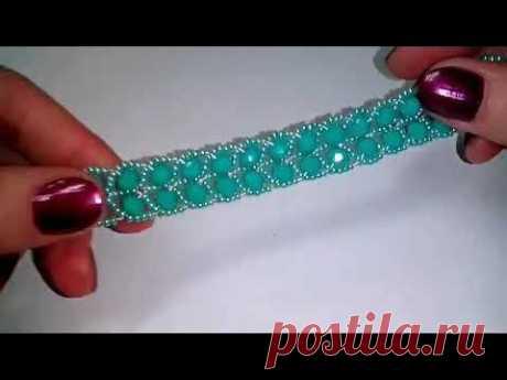 Браслет. Плетение из бисера и бусин. МК. Beaded bracelet