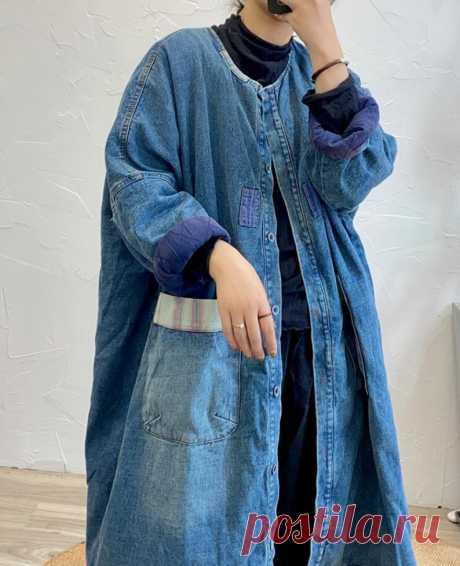 Women midi padded coat oversized coat blue Winter coat   Etsy