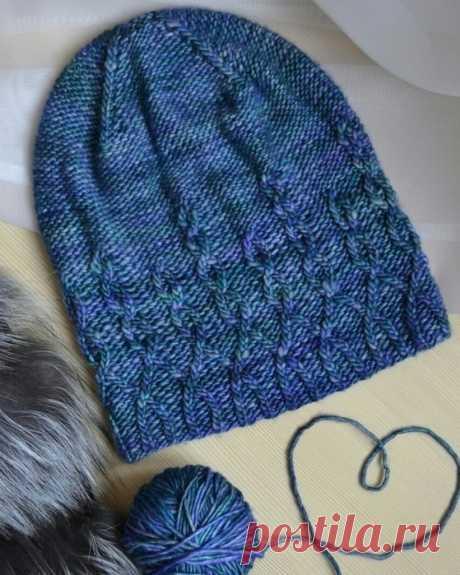Стильная шапочка на осень (Вязание спицами) – Журнал Вдохновение Рукодельницы