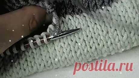 Урок вязания. Соединение полотен.