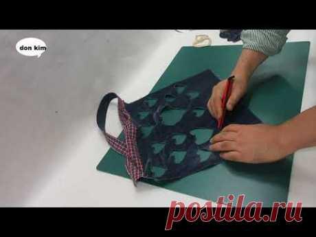 DIY간단한 토트백 만들기 very easy - to - make tote bag