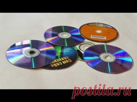 10 потрясающе простых идей поделок из DVD дисков