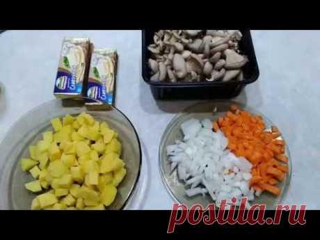 Как приготовить сырный суп с грибами. - YouTube