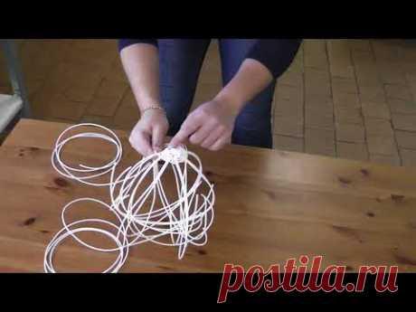 Плетение корзинки из полиротанга (искусственного ротанга) часть 2