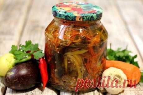 20 простых и вкусных салатов из баклажанов на зиму