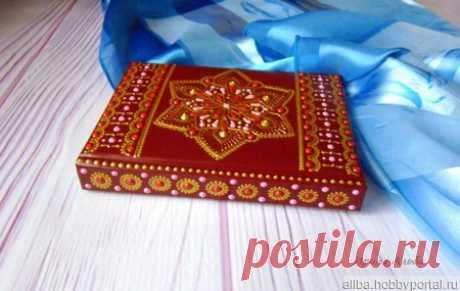 Ежедневник А6 точечная роспись бордовый – купить в интернет-магазине HobbyPortal.ru с доставкой