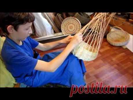 Плетение сферической корзины. Лозоплетение. - YouTube