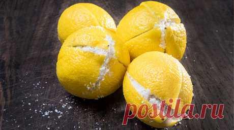 Разрезать лимон и засыпать его солью — способ которым раньше не пользовались