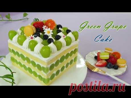 Как сделать мягкую влажную ванильную губку из зеленого виноградного торта