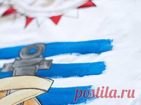 Мастер-класс по росписи футболки! | Журнал Ярмарки Мастеров Мастер-класс по росписи футболки! – бесплатный мастер-класс по теме: Роспись ✓Своими руками ✓Пошагово ✓С фото