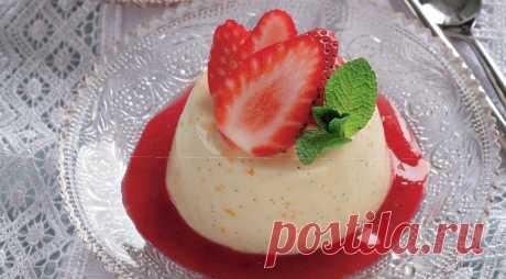 Отлично на десерт! Панакотта с ванилью и клубникой — Фактор Вкуса