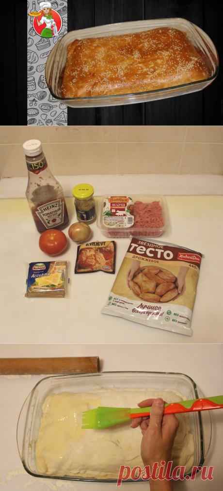 Большой домашний пирог-чизбургер за 30 минут | Рецепты от Джинни Тоник | Яндекс Дзен