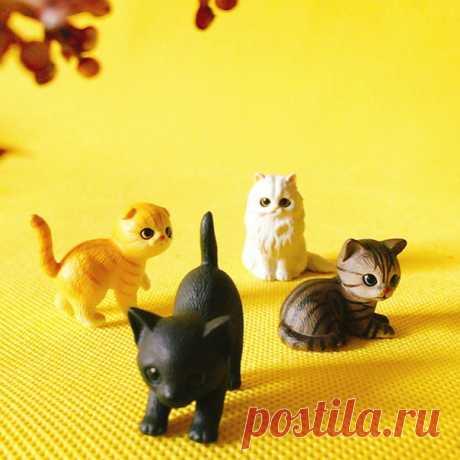 Миниатюрные фигурки котят для декора  https://s.click.aliexpress.com/e/ndudi4z2?product_id=..