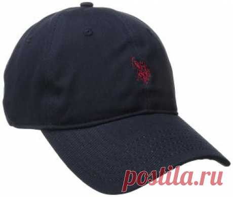 U.S. Polo Assn. Men's Small Solid Horse Adjustable Cap, Navy, One Size at Amazon Men's Clothing store: