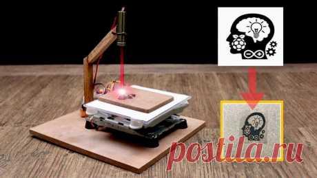 Лазерный гравер из DVD-приводов В этой статье мастер-самодельщик поделится с нами своим опытом по изготовлению мини лазерного гравера. Этот гравер может гравировать изображения на картоне, дереве, виниле и т. д. Инструменты и материалы:-Arduino UNO (с USB-кабелем);-DVD привод - 2 шт.;-Плата расширения ЧПУ;-Модуль драйвера