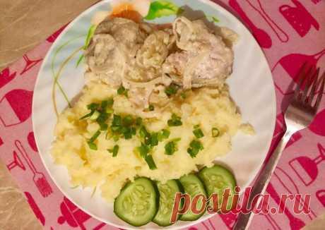 (4) Минтай в сметане🐟 - пошаговый рецепт с фото. Автор рецепта Ксюша👩🏻🍳 . - Cookpad