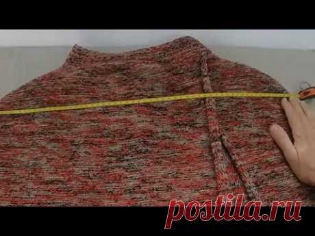 capa da Maya feita em tricô à máquina
