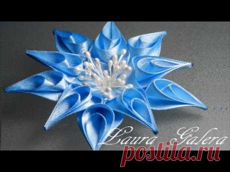 Flor estrella tutorial !! Star flower Звездный цветок Flor da estrela artesanal