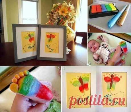 Рисуем ножками с детьми. Картинки на память.