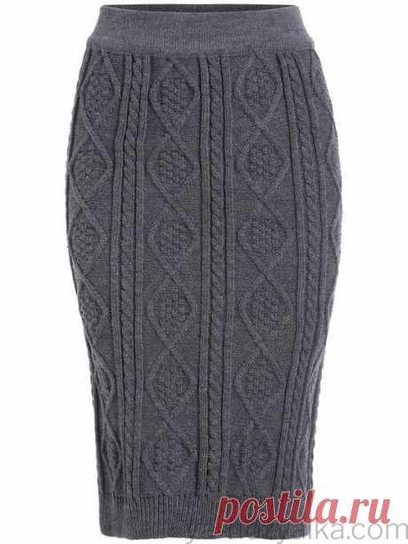 Вязаная юбка спицами для женщин прямая. Связать теплую юбку-карандаш спицами