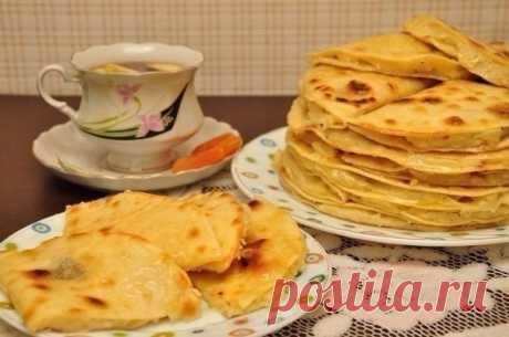 Кыстыбыи ‑ татарские лепешки с картошкой — Sloosh – кулинарные рецепты