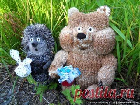 Вязаная игрушка Медвежонок в тумане – HandMade39.ru Вязаная игрушка Медвежонок в тумане - мастер-класс. Вязаный Ёжик в тумане. Вязаные герои мультфильмов. Вязаные игрушки авторская работа заказать, купить.