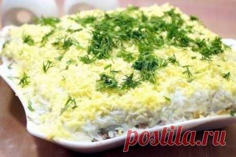 Слоеный салат с рыбно-грибной начинкой - вкус изумительный!   Вперед✔огород   Яндекс Дзен