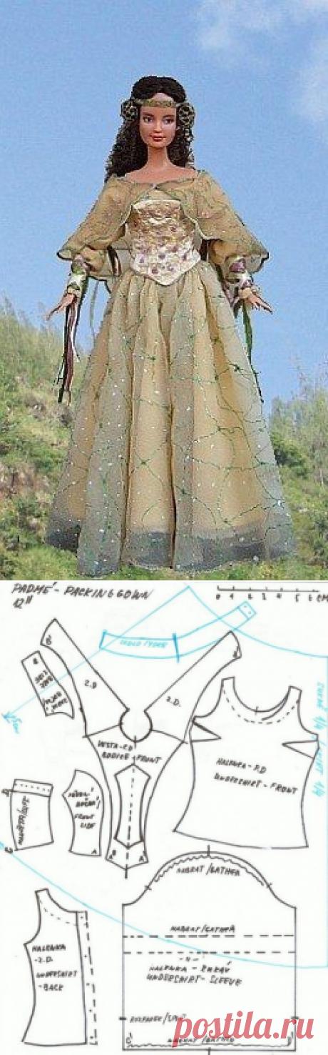 Шьём старинное платье для барби