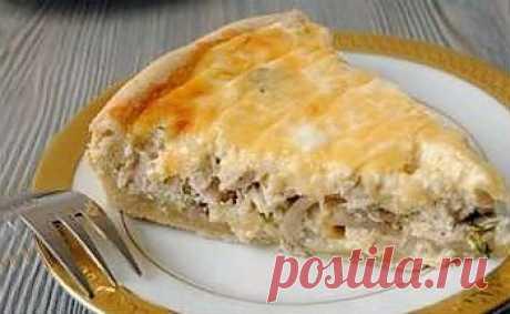 Рецепт пирога с курицей и грибами в мультиварке - Пирог в мультиварке . 1001 ЕДА вкусные рецепты с фото!