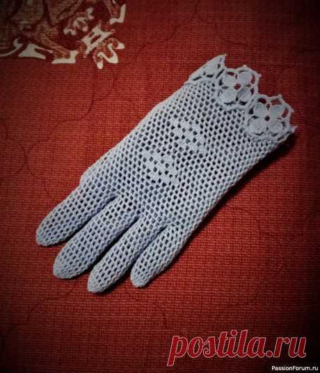 Летние перчатки крючком.   Вязаные крючком аксессуары