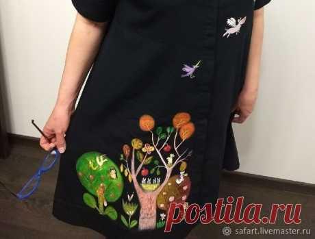 Переделываем скучное платье с помощью росписи