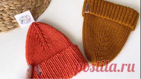 Модная шапка луковка с острой макушкой (Вязание спицами) – Журнал Вдохновение Рукодельницы