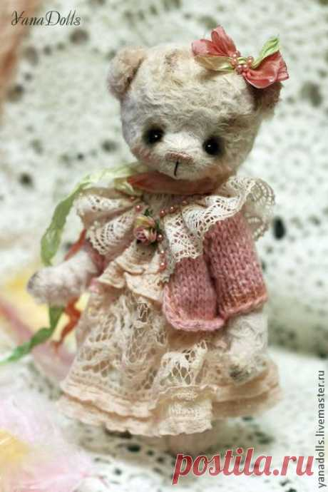 Mimi - light pink, a bear, Teddie's bear, a bear of handwork, a bear as a gift