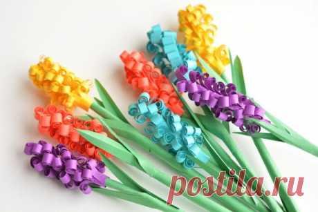 Создаем весенние цветочки из бумаги