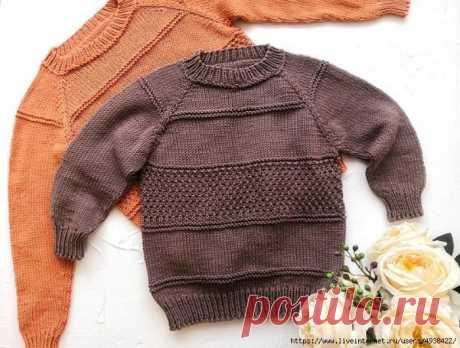 Подробный мк детского свитера регланом сверху с расчетами на все размеры.